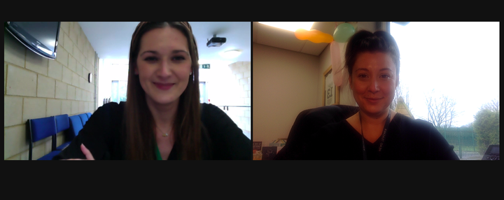 Miss Fenner and Miss Hart hosted virtual wellbeing drop-in sessions.