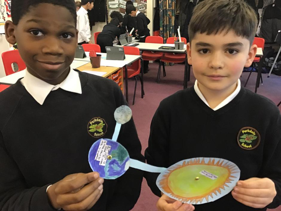 Making moveable models to show the orbits