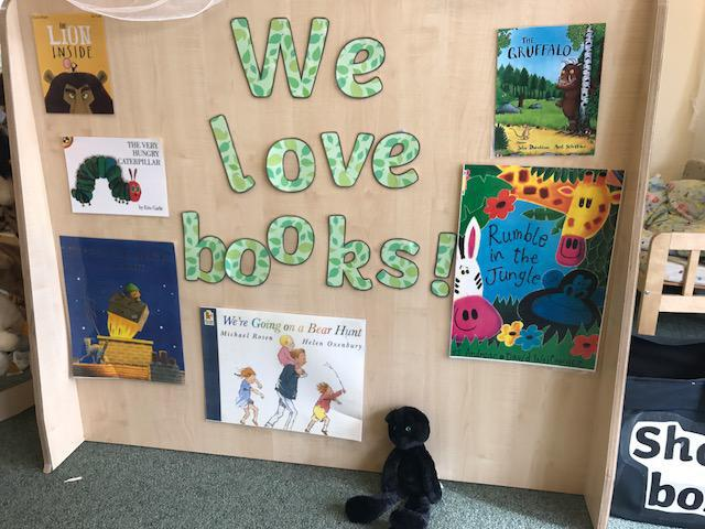 Sid loves our book corner!