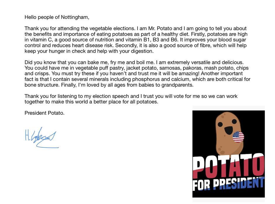 Go President Potato!