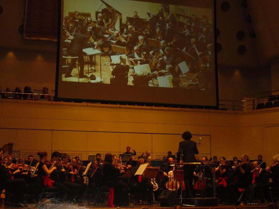 Watching the incredible Halle orchestra.