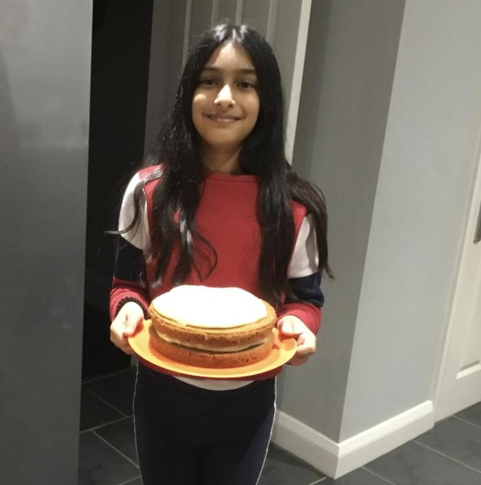 Layla's carrot cake - served with a smile!