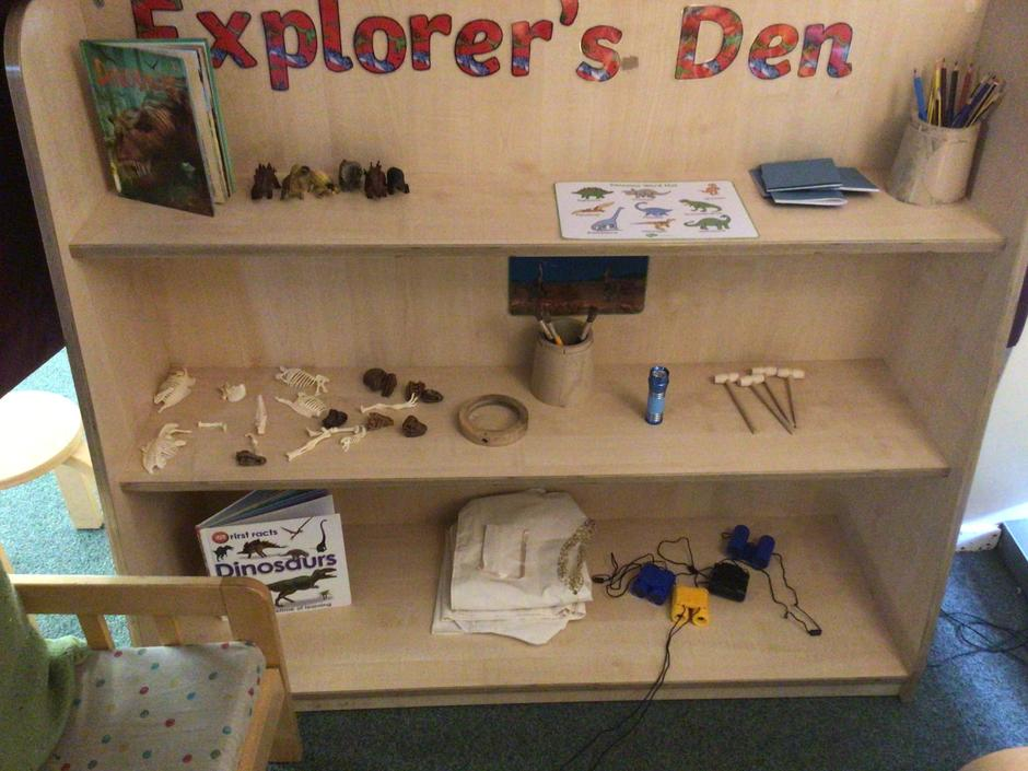 Our new explorers den