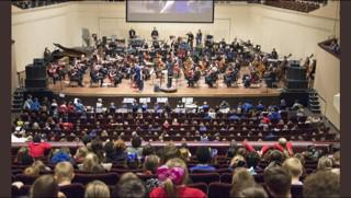 Y6 perform alongside the Halle orchestra!