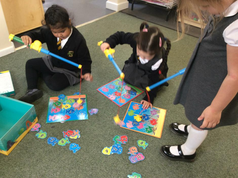 Fishing for numbers to match.