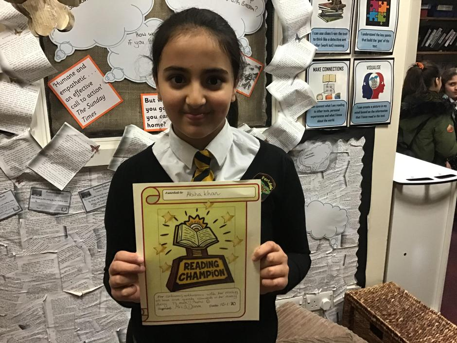 A well deserved Reading Champion