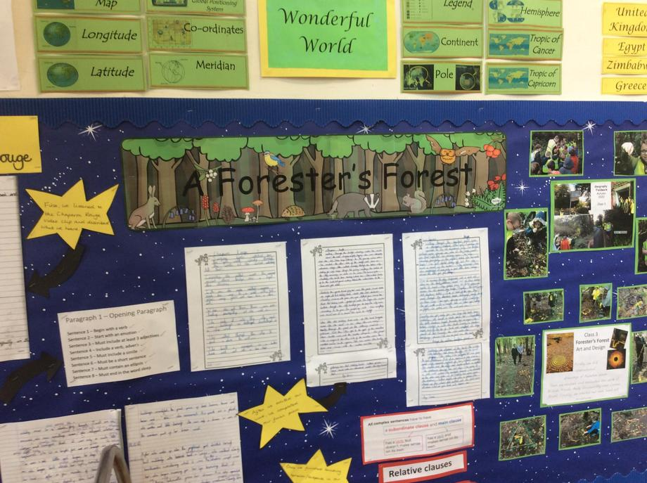 Once Class 3 completed their fieldwork, they used this knowledge to inform their writing.,