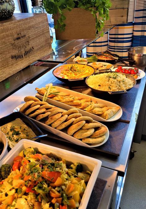 Week 1 Thursday Vegetable samosas and Naan Bread
