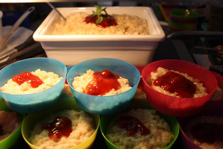 Week 1 Wednesday Rice Pudding with Strawberry Jam