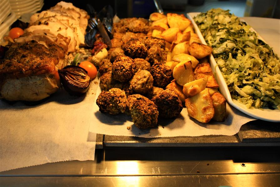 Week 1 Wednesday Roast Pork, Roast Potatoes and Stuffing Balls