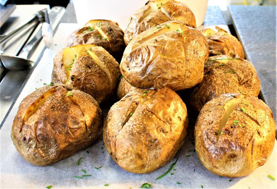Jacket Potatoes with cheese, beans or tuna