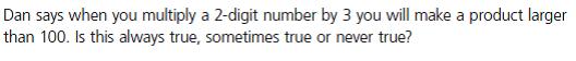 Multiplication Reasoning Activity 1