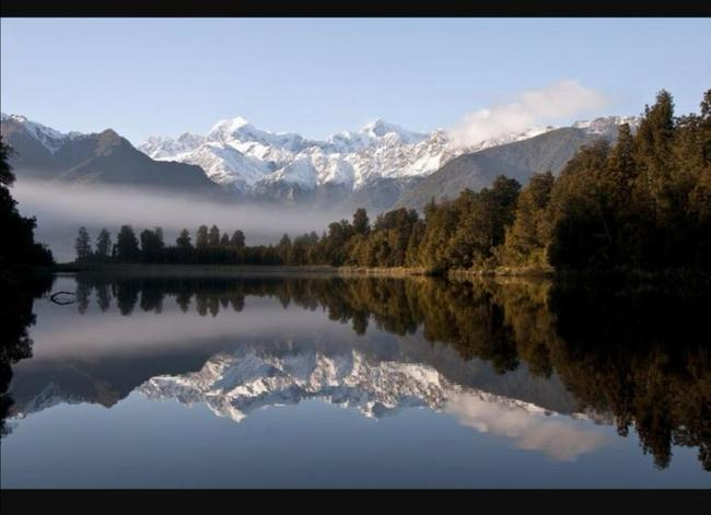 Science - Mountain reflection picture