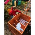 A new rabbit hutch