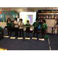 We practised using the instruments