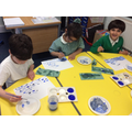 Recreating Hokusai's 'Great Wave' artwork with cold colours
