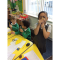 We had fun exploring our senses