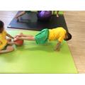 Balancing on a ball