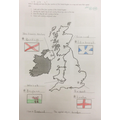 We learnt about the UK where we live