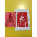 Eiffel tower tile print