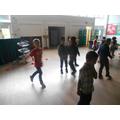 We had fun dancing