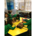 Using enquiry skills to look at artefacts.