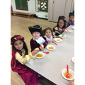 We got to eat our soup during our Tudor banquet