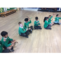 Using claves to explore loud and quiet