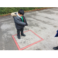 Finding 2D shapes around school.