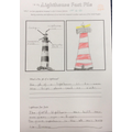 We looked at lighthouses and why they are important at the seaside