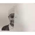 We used our new pencil skills and portrait knowledge to create our own half portraits