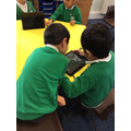 Then we recorded our voices to retell the story