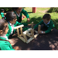 We worked as a team to design and build a longboat