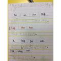 We had to unjumble sentences
