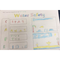 The Canal and River Trust gave us a safety talk and we made water safety posters!