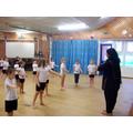 Class 4 learnt an Indian Dance for Diwali