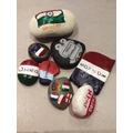 Language stones celebrating World Language Day