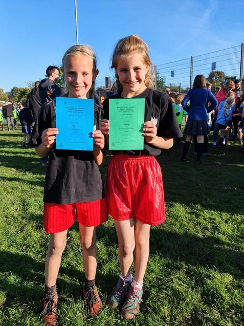 Y3/4 girls - 1st and 3rd place