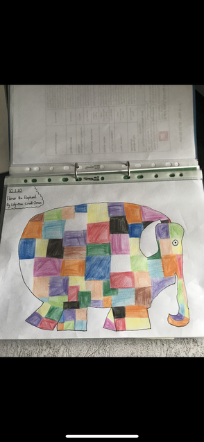 Lily-Mae's elephant sketch.