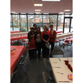 Our wonderful catering team Xmas lunch ready!