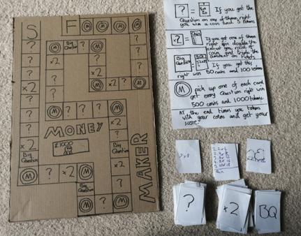 A fun, engaging maths board game (Adam)