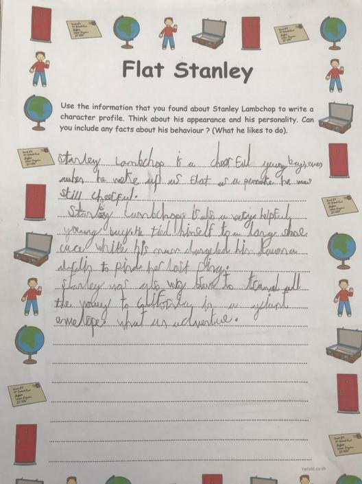 Harry is producing some fabulous handwriting :-)