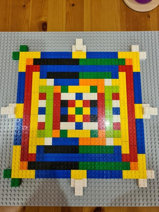 A very creative Mandala from Ethan - well done!