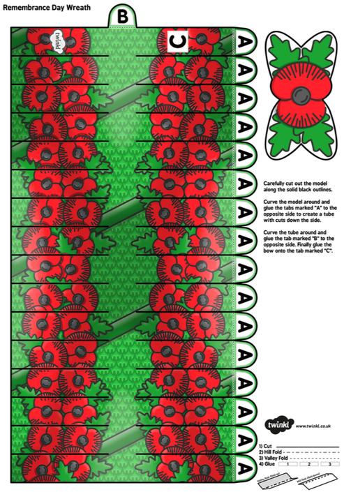 3D Poppy Wreath