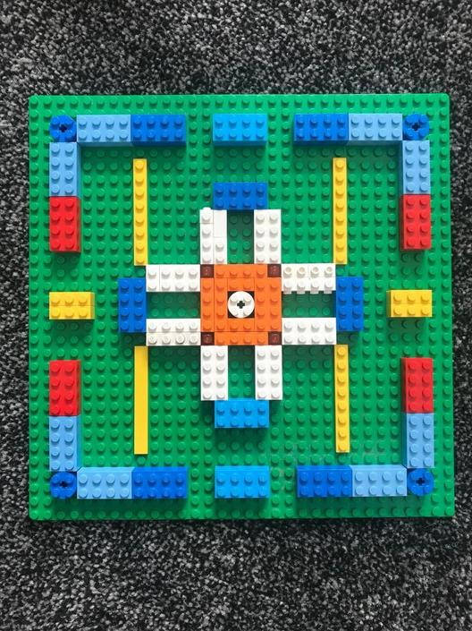 Jayden had created his own lego Mandala.