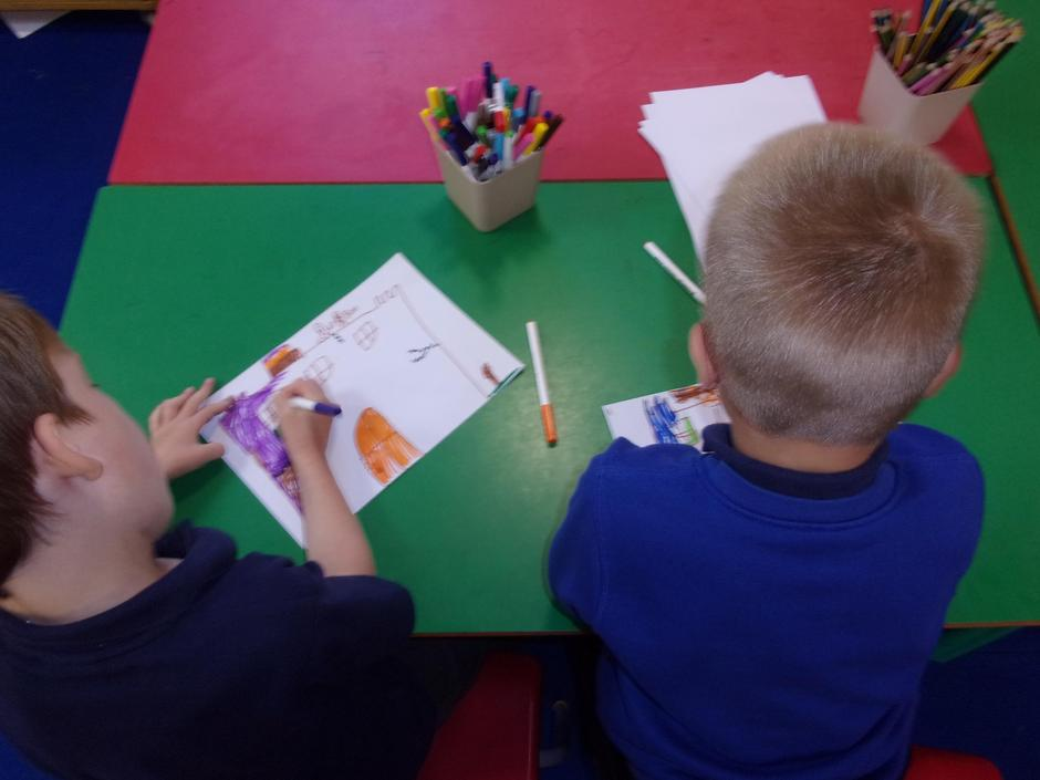drawing lovely pictures