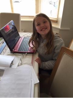 Sophie enjoying her learning