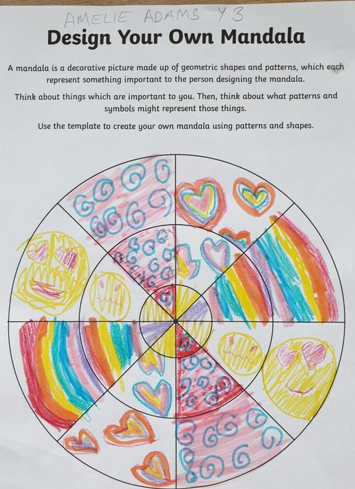Amelie has deigned a colourful Mandala.