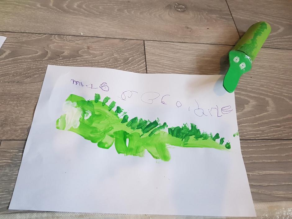 Mia Mae's crocodile