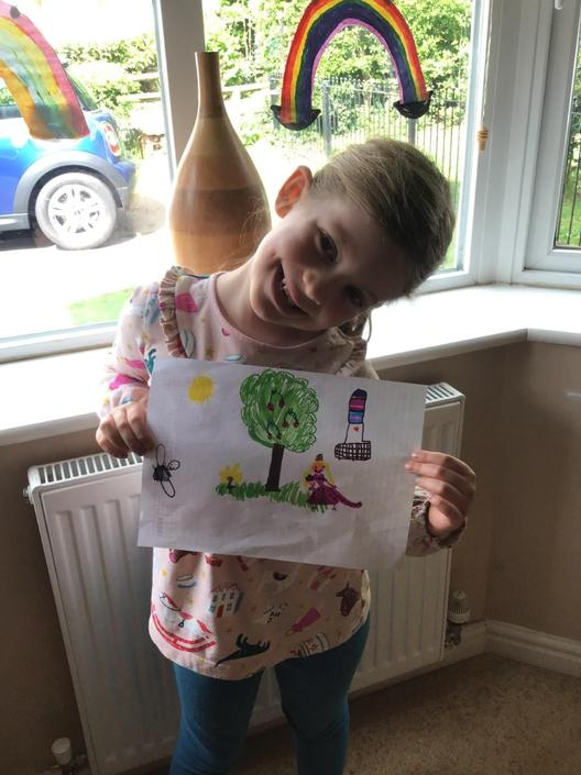 Freya proud of her poem research